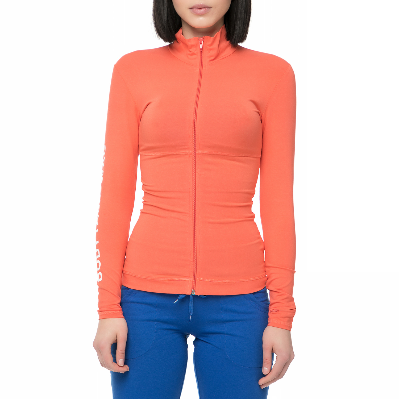 BODYTALK - Γυναικεία αθλητική ζακέτα Bodytalk WAGW πορτοκαλί γυναικεία ρούχα αθλητικά φούτερ μακρυμάνικα