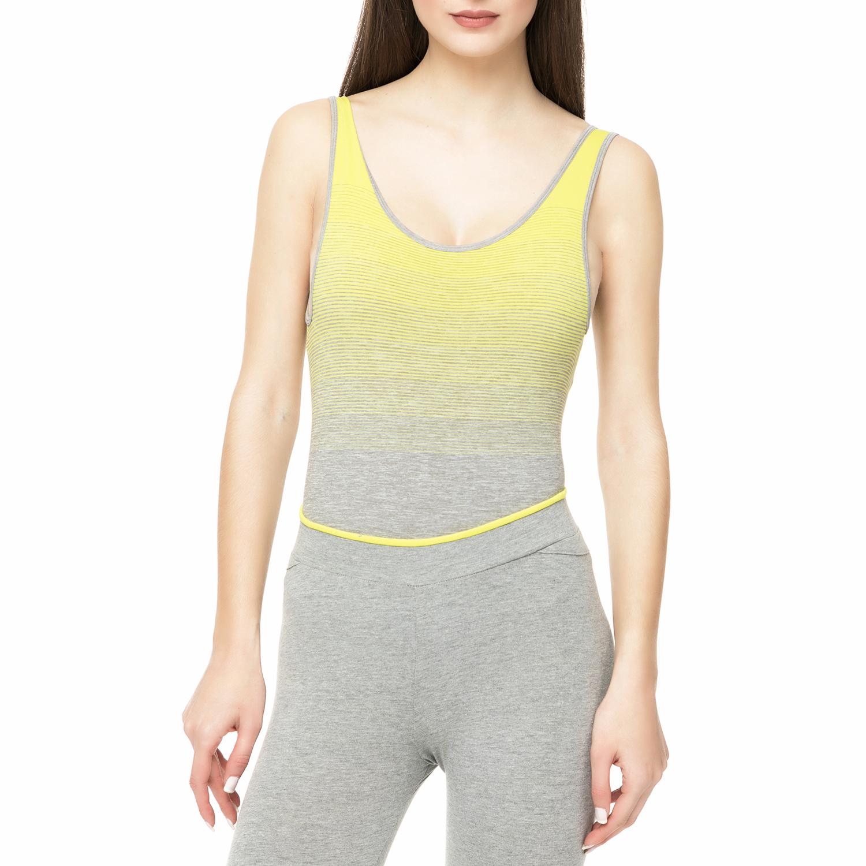 BODYTALK - Γυναικείο κορμάκι Bodytalk SEAMLESSW DEGRADE LEOTARD γκρι - κίτρινο γυναικεία ρούχα εσώρουχα κορμάκια
