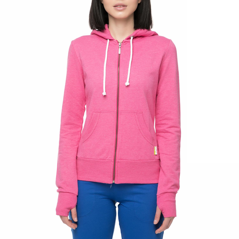 BODYTALK - Γυναικεία φούτερ ζακέτα με κουκούλα Bodytalk ροζ γυναικεία ρούχα φούτερ ζακέτες