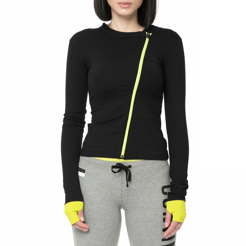 BODYTALK - Γυναικεία ζακέτα φούτερ BODYTALK μαύρη γυναικεία ρούχα αθλητικά φούτερ μακρυμάνικα