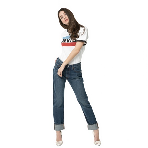6c21ab2f2bd Γυναικείο boyfriend τζιν παντελόνι LEVI'S 501 μπλε (1672550.0-0009 ...