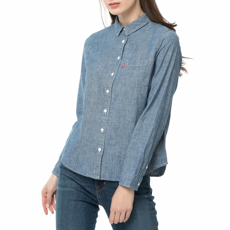 6232b1cd487d LEVI S - Γυναικείο μακρυμάνικο ντένιμ πουκάμισο LEVI S μπλε