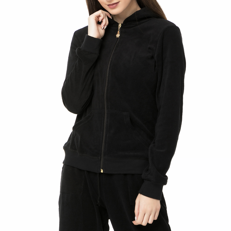 MYMOO – Γυναικεία μακρυμάνικη πετσετέ ζακέτα GABRIELLA EYE OF THE TIGER μαύρη