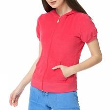 MYMOO-Γυναικεία κοντομάνικη πετσετέ ζακέτα MAURA BLA BLA BLA φούξια