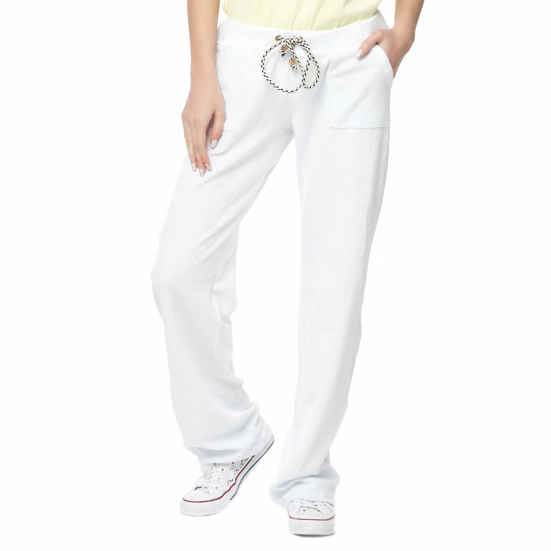 MYMOO - Γυναικείο πετσετέ παντελόνι φόρμας Mymoo ANCHOR λευκό γυναικεία ρούχα παντελόνια φόρμες