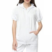 MYMOO-Γυναικεία κοντομάνικη πετσετέ ζακέτα ANCHOR λευκή