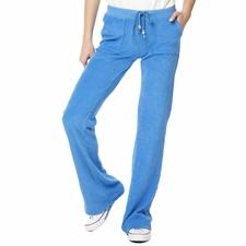 MYMOO-Γυναικείο πετσετέ παντελόνι φόρμας HIGH RISE BLA BLA BLA σιέλ