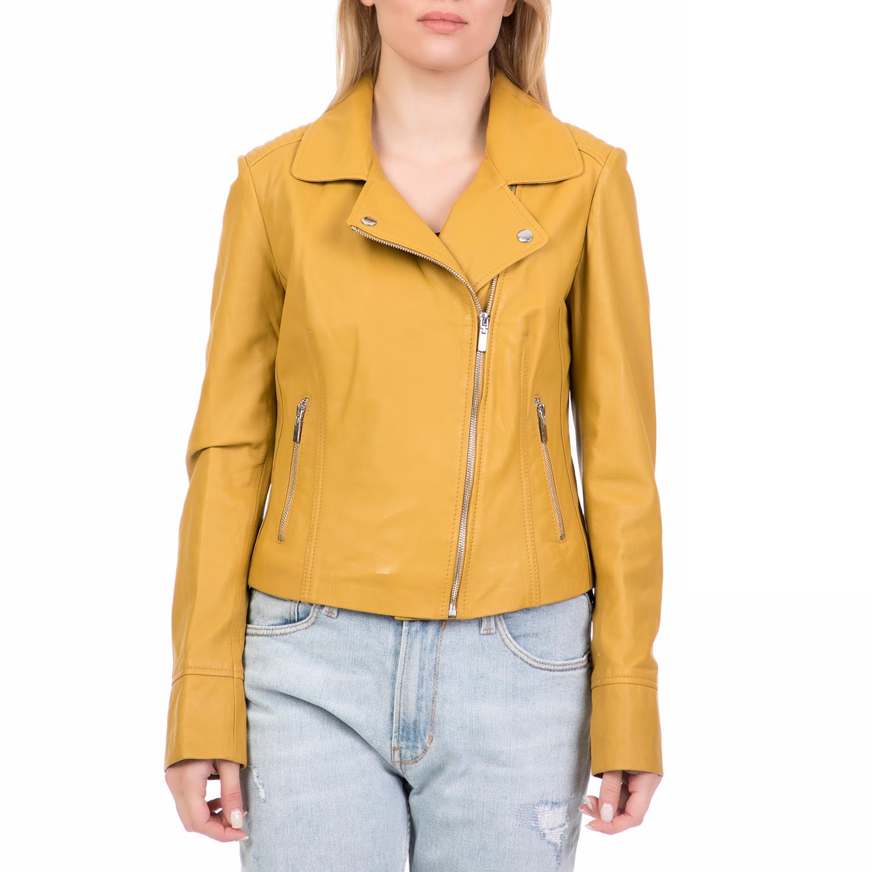 ARMA MAYS   ROSE – Γυναικείο δερμάτινο μπουφάν GOMERA Sheep Denvey κίτρινο 9da2f8dd47a