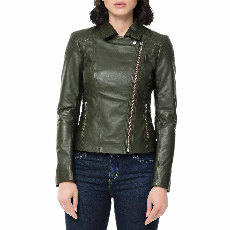 ARMA MAYS   ROSE – Γυναικείο δερμάτινο μπουφάν JESSIE Sheep Denvey πράσινο. Factory  Outlet a062b7cf83e