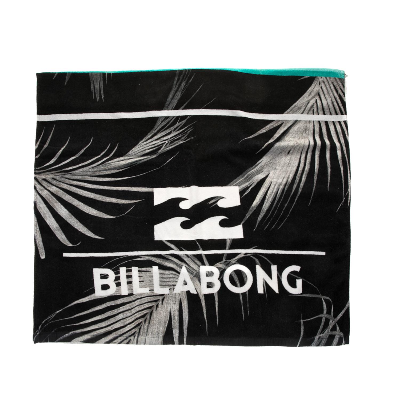 BILLABONG - Ανδρική πετσέτα θαλάσσης BILLABONG SPINNER μαύρη με τύπωμα ανδρικά αξεσουάρ εξοπλισμός παραλίας πετσέτες