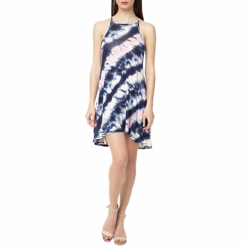 BILLABONG - Γυναικείο μίνι φόρεμα BILLABONG SING ALONG μπλε-ροζ γυναικεία ρούχα φορέματα μίνι