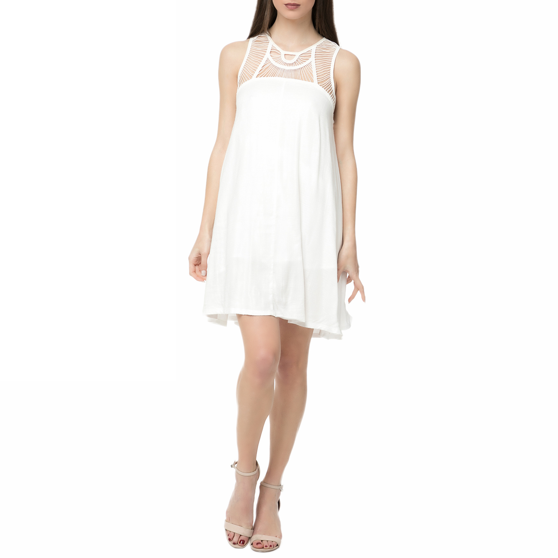 ELEMENT - Γυναικείο μίνι φόρεμα ELEMENT RING λευκό γυναικεία ρούχα φορέματα μίνι
