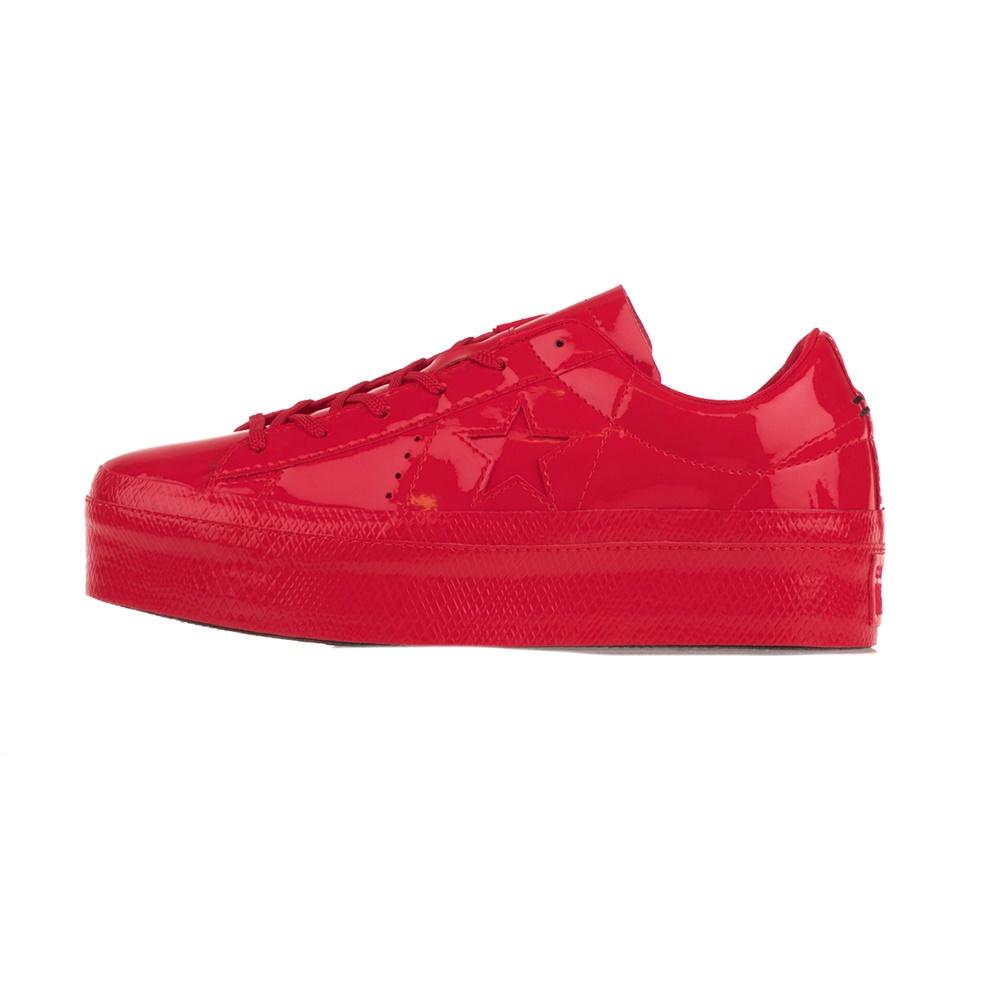 CONVERSE – Γυναικεία sneakers CONVERSE ONE STAR PLATFORM κόκκινα