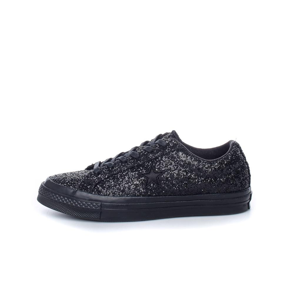 CONVERSE – Γυναικεία sneakers με glitter CONVERSE One Star μαύρα