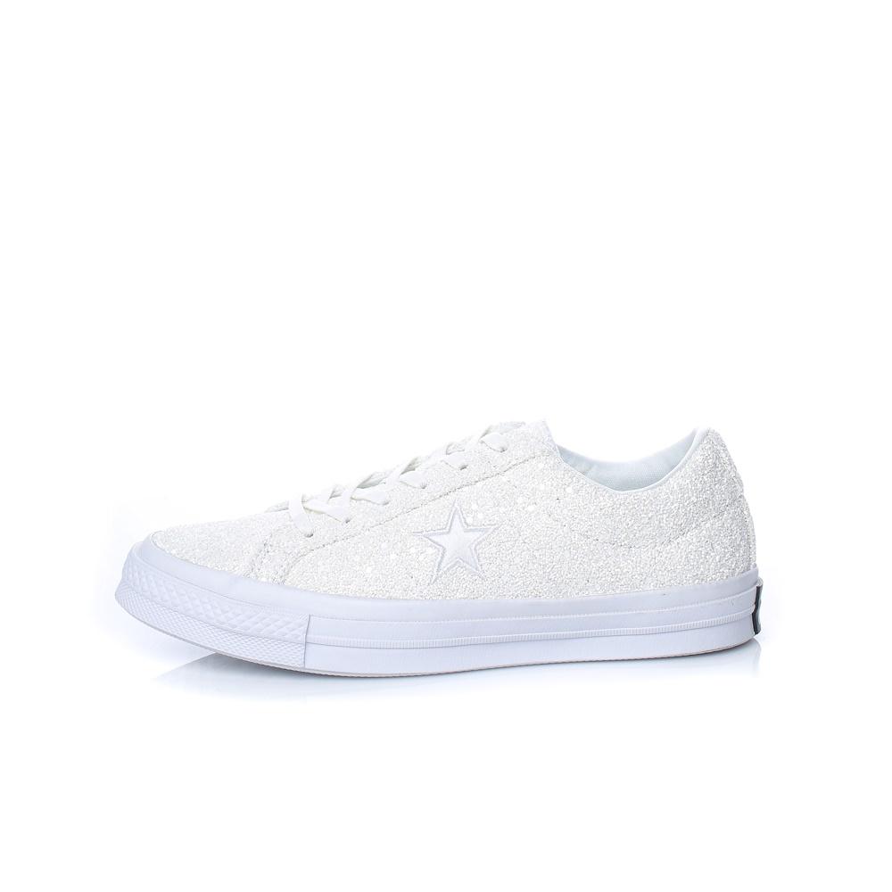 CONVERSE – Γυναικεία sneakers με glitter CONVERSE One Star λευκά