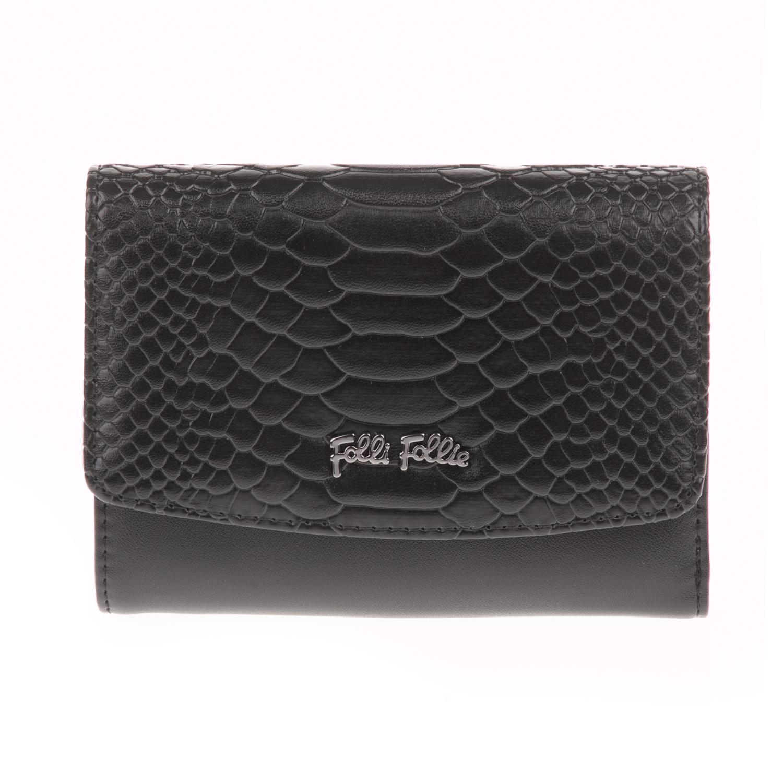 a87cba21d9 FOLLI FOLLIE - Γυναικείο αναδιπλούμενο πορτοφόλι FOLLI FOLLIE μαύρο