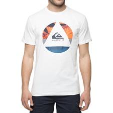 QUIKSILVER-Ανδρικό t-shirt με στάμπα QUIKSILVER SSCLAFLUIDT λευκή
