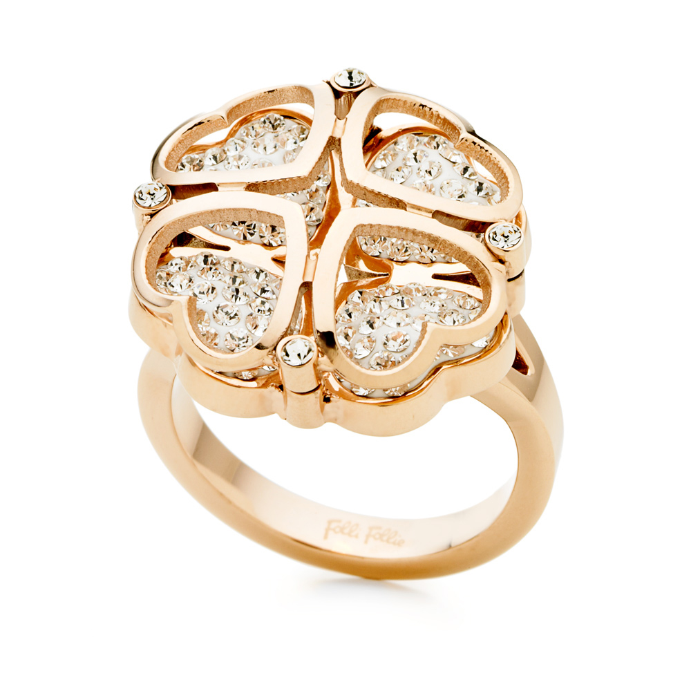 FOLLI FOLLIE - Γυναικείο δαχτυλίδι FOLLI FOLLIE ροζ χρυσό