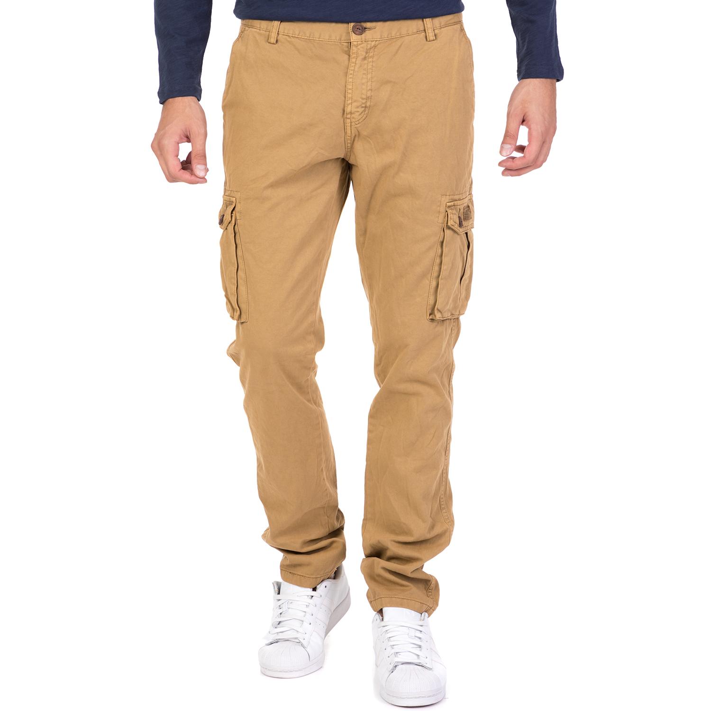 DEVERGO JEANS - Ανδρικό παντελόνι cargo DEVERGO JEANS καφέ ανδρικά ρούχα παντελόνια cargo