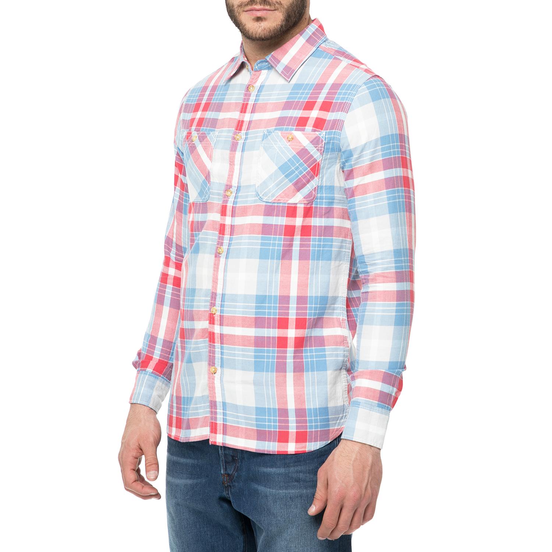 87ca7bbf6099 FUNKY BUDDHA - Ανδρικό πουκάμισο FUNKY BUDDHA με καρό μοτίβο