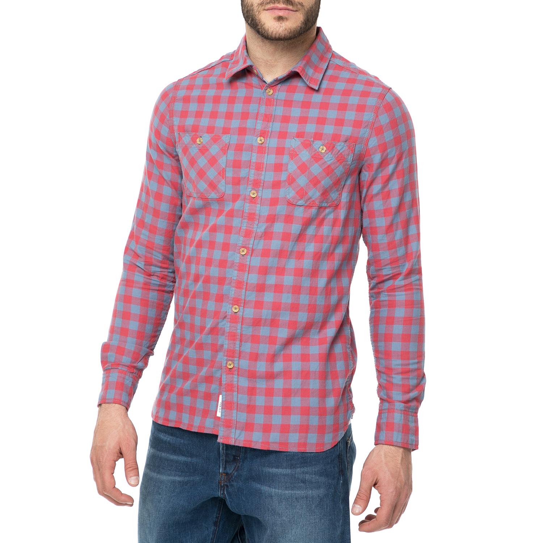 73e2dae170bc FUNKY BUDDHA - Ανδρικό πουκάμισο FUNKY BUDDHA με καρό μοτίβο