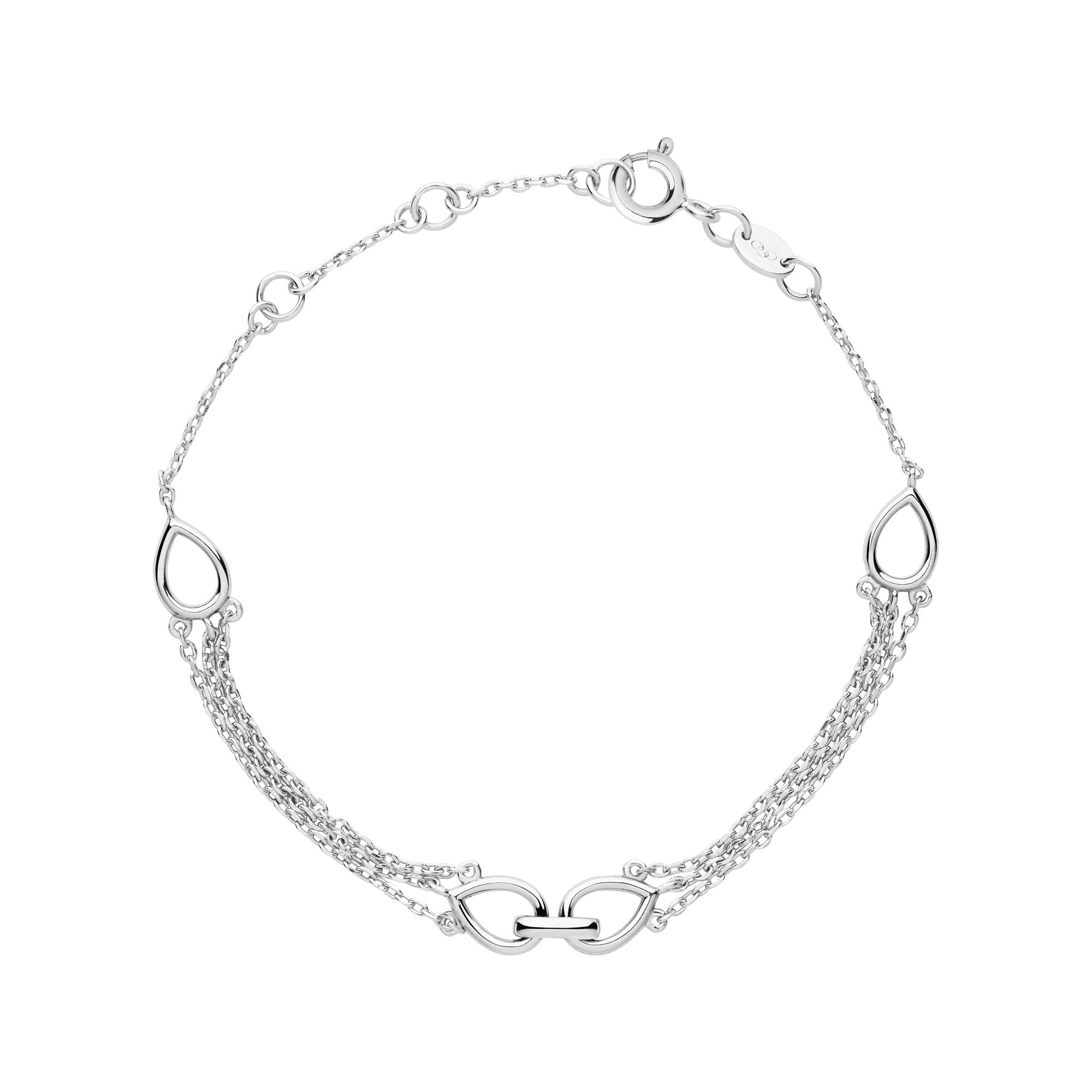 LINKS OF LONDON - Ασημένιο βραχιόλι Outlet Flare Double γυναικεία αξεσουάρ κοσμήματα βραχιόλια