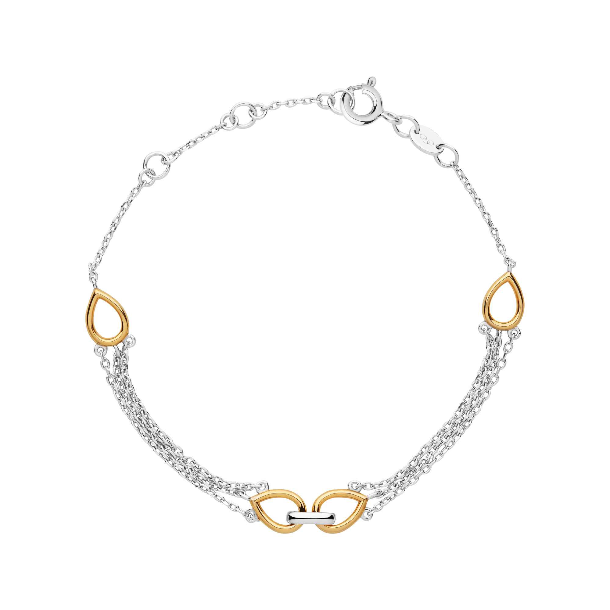 LINKS OF LONDON - Ασημένιο βραχιόλι Flare Double γυναικεία αξεσουάρ κοσμήματα βραχιόλια