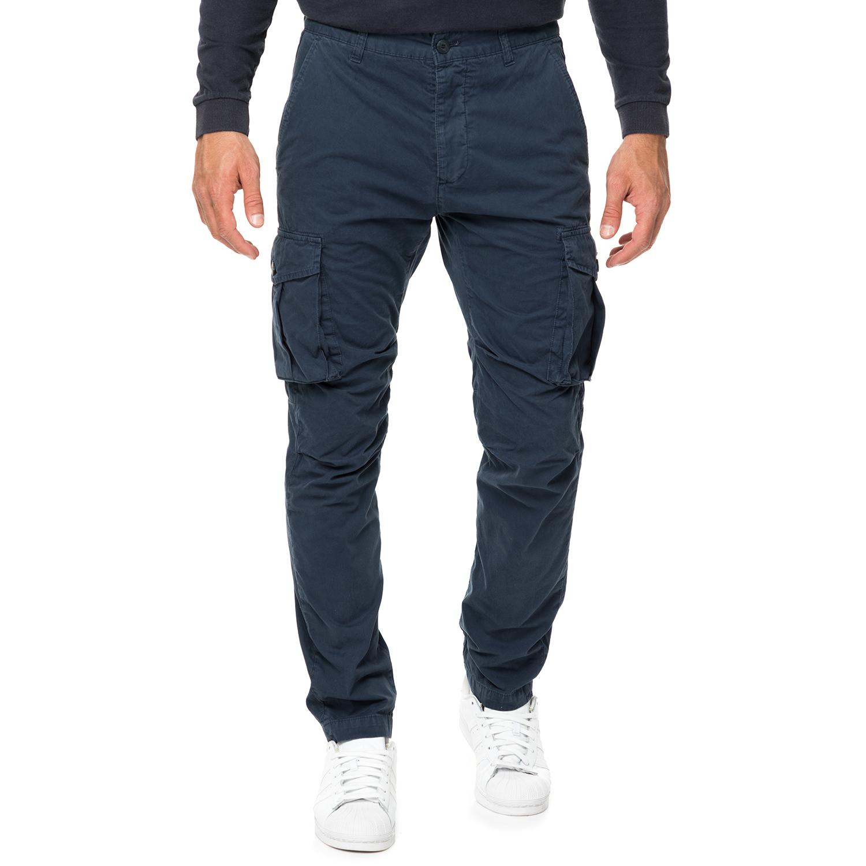 HAMPTONS - Ανδρικό cargo παντελόνι HAMPTONS μπλε ανδρικά ρούχα παντελόνια cargo