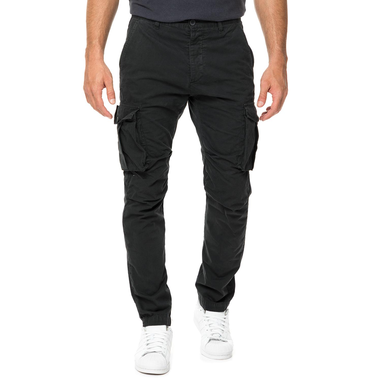 HAMPTONS - Ανδρικό cargo παντελόνι HAMPTONS μαύρο ανδρικά ρούχα παντελόνια cargo