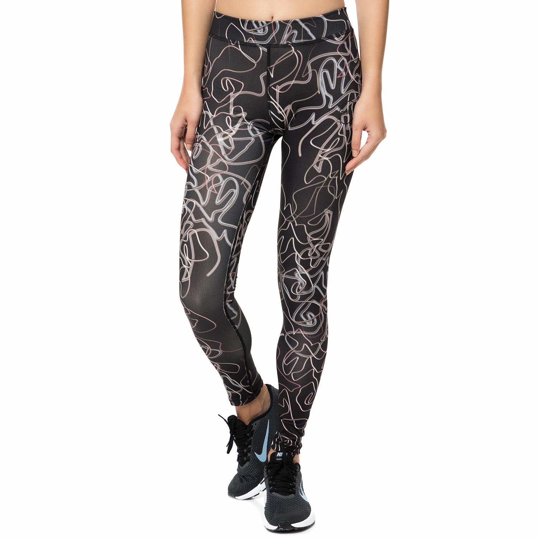 GSA - Γυναικείο κολάν προπόνησης GSA HYDRO+ UP&FIT LEGGINGS μαύρο με print γυναικεία ρούχα αθλητικά κολάν