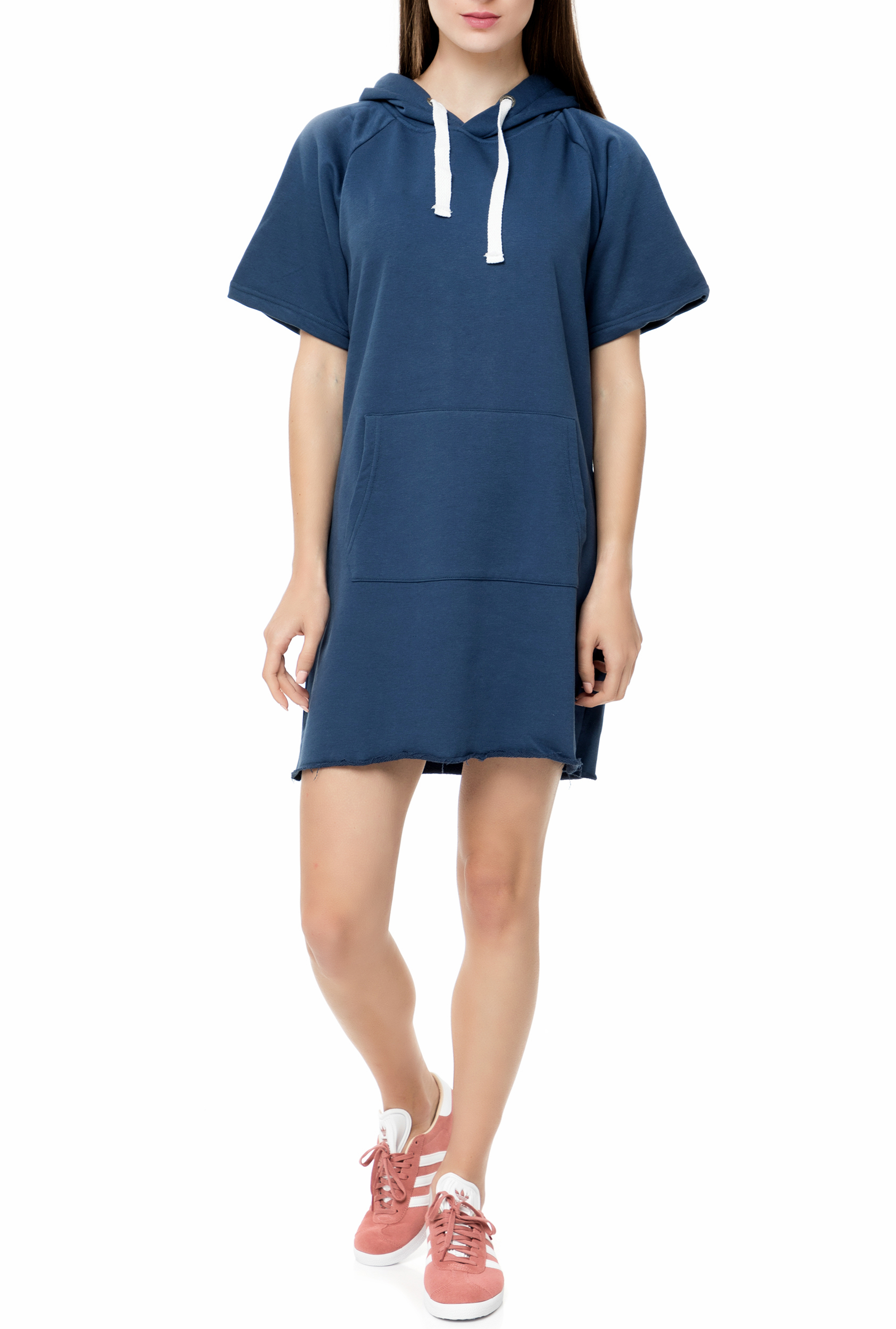 5d11572da694 Factoryoutlet GSA - Γυναικείο μίνι φόρεμα GSA GLORY DRESS HOODIE μπλε
