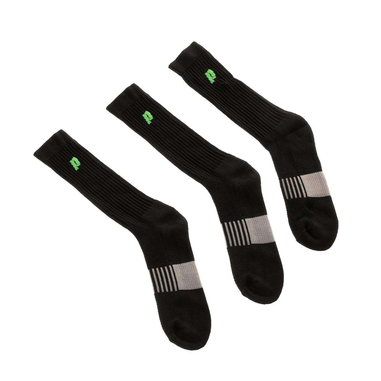 PRINCE - Σετ ανδρικές ψηλές κάλτσες Prince Classic Dry-Cotton μαύρες ανδρικά αξεσουάρ κάλτσες