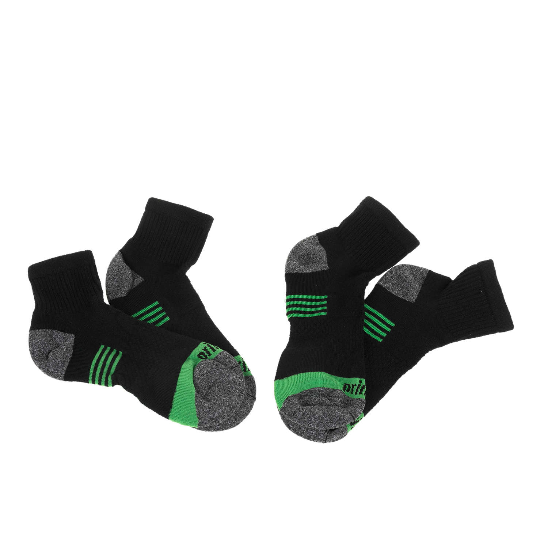 PRINCE - Σετ από 2 ανδρικές κάλτσες τένις Prince Team μαύρες-πράσινες ανδρικά αξεσουάρ κάλτσες