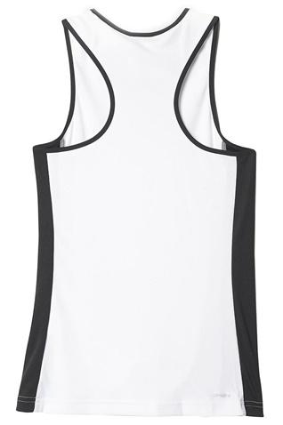18adcfabb2 Γυναικείο crop φανελάκι για τέννις adidas GALAXY TANK λευκό-μαύρο ...