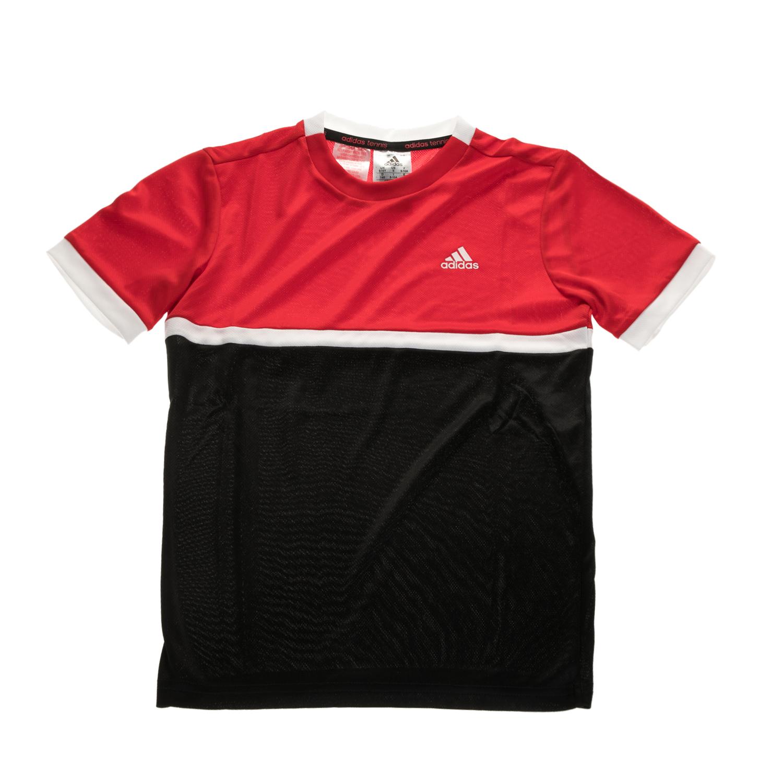adidas Performance - Αγορίστικη κοντομάνικη μπλούζα τένις GALAXY TEE κόκκινη-μαύ παιδικά boys ρούχα αθλητικά