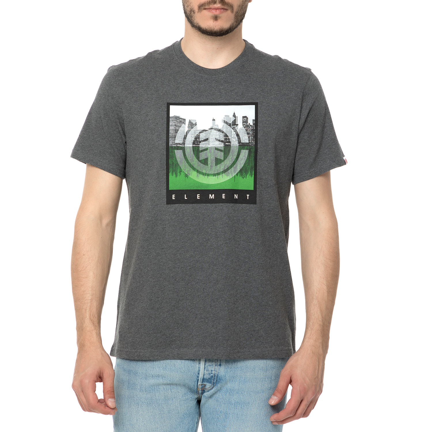 e755ce180dc9 ELEMENT – Ανδρικό t-shirt ELEMENT REFLECTION γκρι με στάμα – Online ...