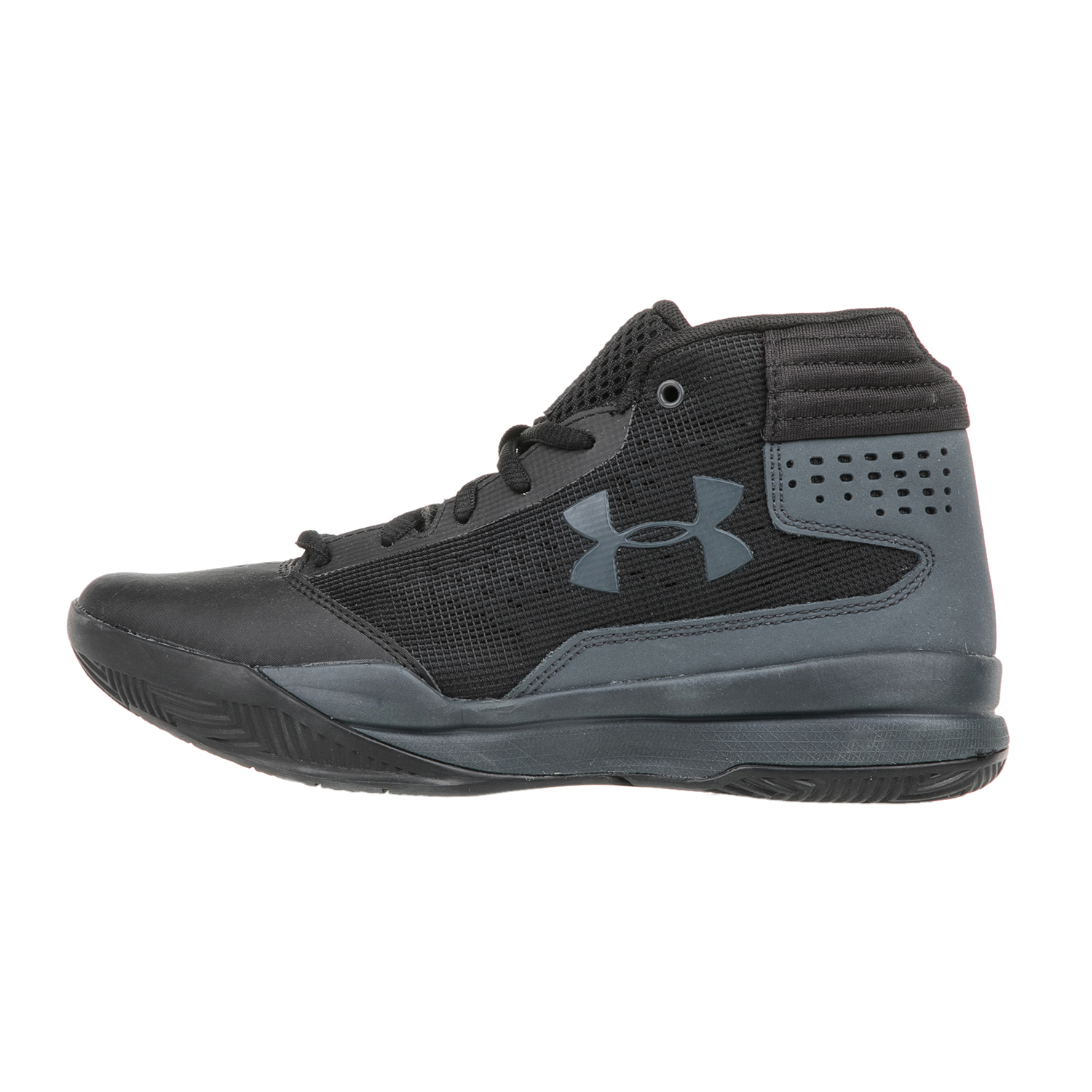 UNDER ARMOUR - Αγορίστικα παπούτσια μπάσκετ UNDER ARMOUR BGS JET 2017 μαύρα παιδικά boys παπούτσια αθλητικά