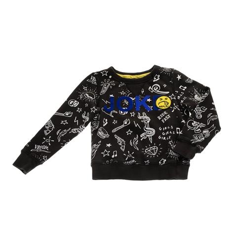 8be2d58e15f3 Παιδική αγορίστικη φούτερ μπλούζα REPLAY μαύρη με σχέδια (1678508.0-0070)