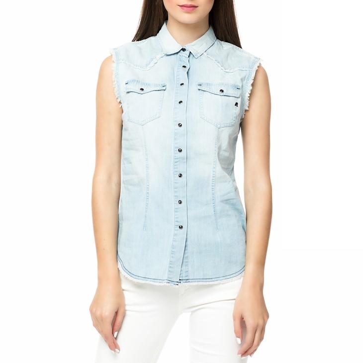 871ed313b433 Γυναικείο αμάνικο τζιν πουκάμισο REPLAY γαλάζιο (1678519.0-0144 ...