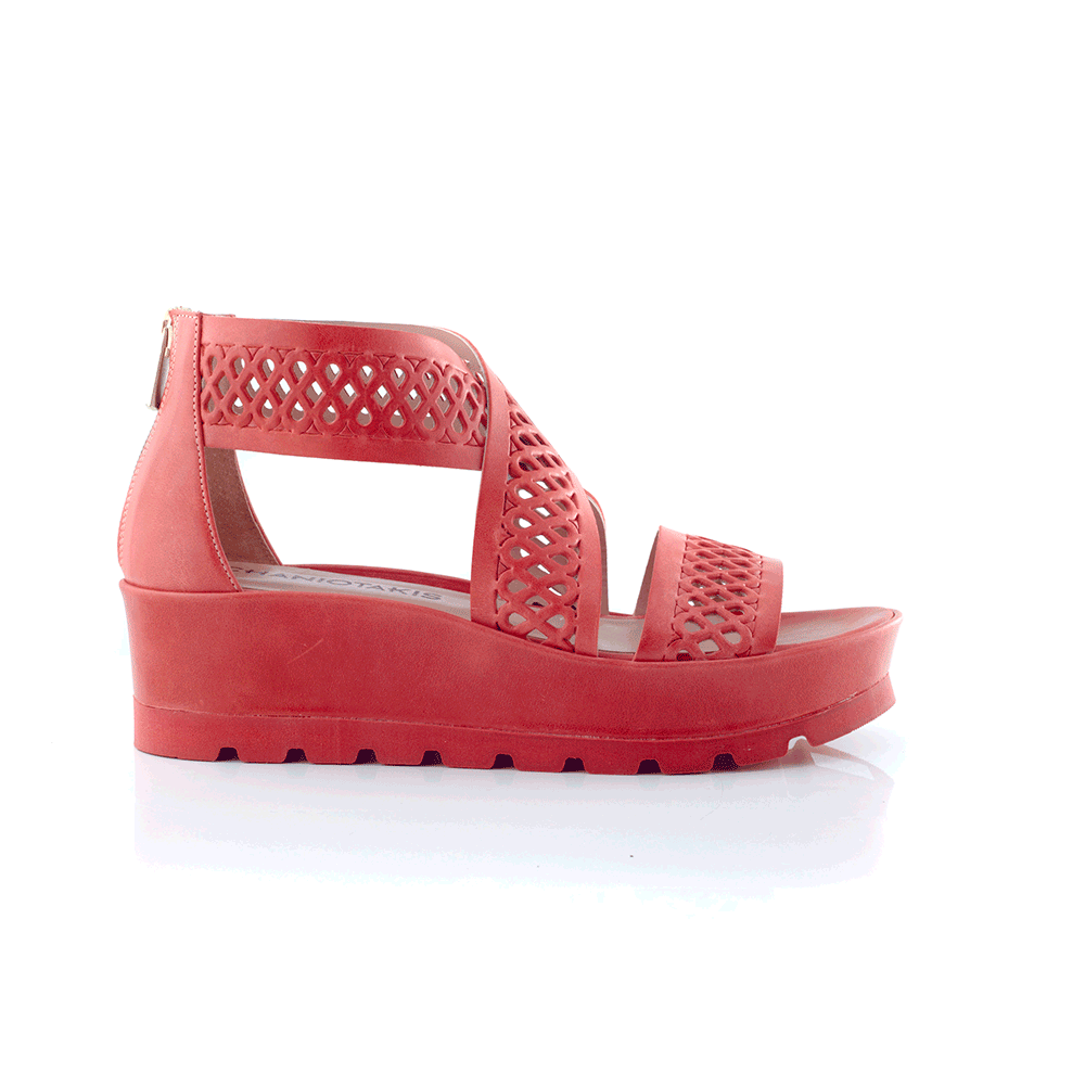 CHANIOTAKIS – Γυναικείες πλατφόρμες MAVERICK 8012 κόκκινες