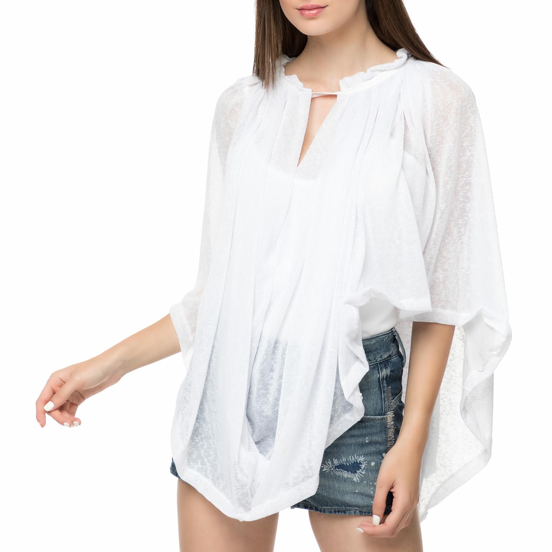 FOUR ANGELS - Γυναικεία αέρινη τουνίκ FOUR ANGELS λευκό γυναικεία ρούχα πουκάμισα πουκαμίσες