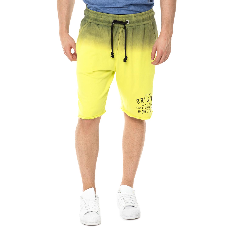 BODYTALK - Ανδρική βερμούδα ORIGINS BODYTALK κίτρινη ανδρικά ρούχα σορτς βερμούδες αθλητικά
