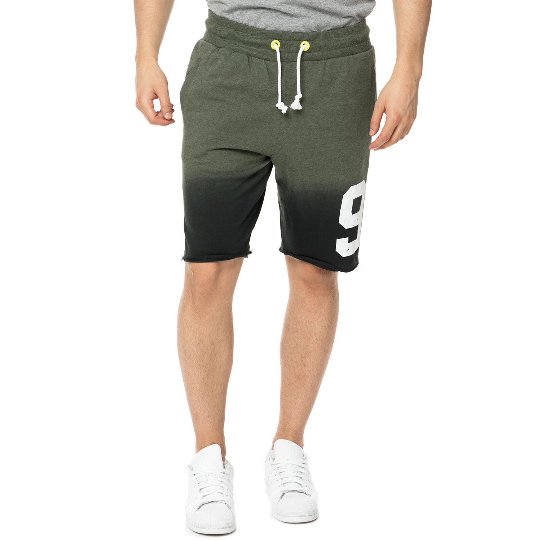 BODYTALK - Ανδρική βερμούδα BODYTALK TAPEITUP πράσινη ανδρικά ρούχα σορτς βερμούδες αθλητικά
