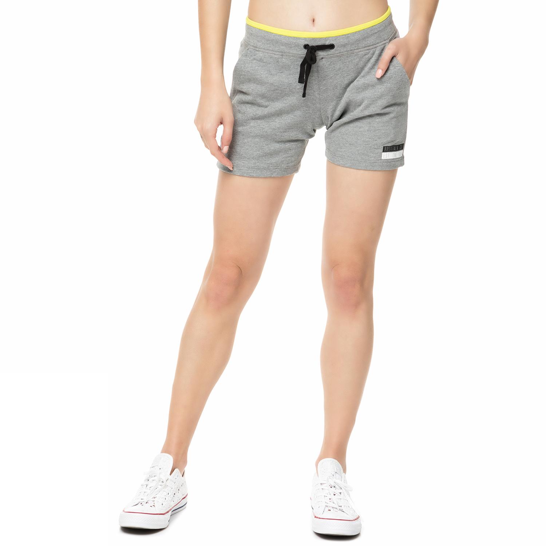 BODYTALK - Γυναικείο αθλητικό σορτς CONVINCEW γκρι γυναικεία ρούχα σορτς βερμούδες αθλητικά