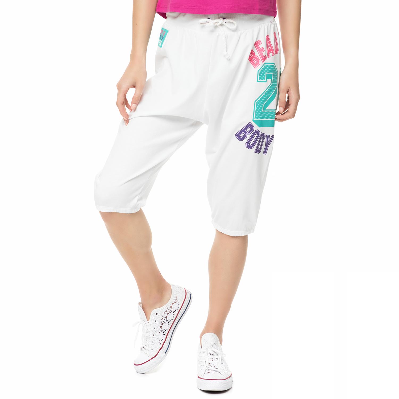 BODYTALK - Γυναικείο κάπρι παντελόνι φόρμας TWENTYS λευκό γυναικεία ρούχα αθλητικά φόρμες