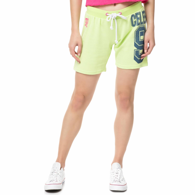 BODYTALK - Γυναικεία αθλητική βερμούδα FIESTAW λαχανί γυναικεία ρούχα σορτς βερμούδες αθλητικά