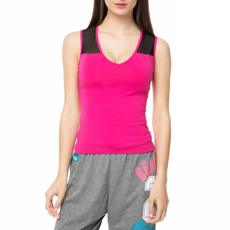 BODYTALK - Γυναικεία αμάνικη μπλούζα WAGW φούξια γυναικεία ρούχα αθλητικά t shirt τοπ