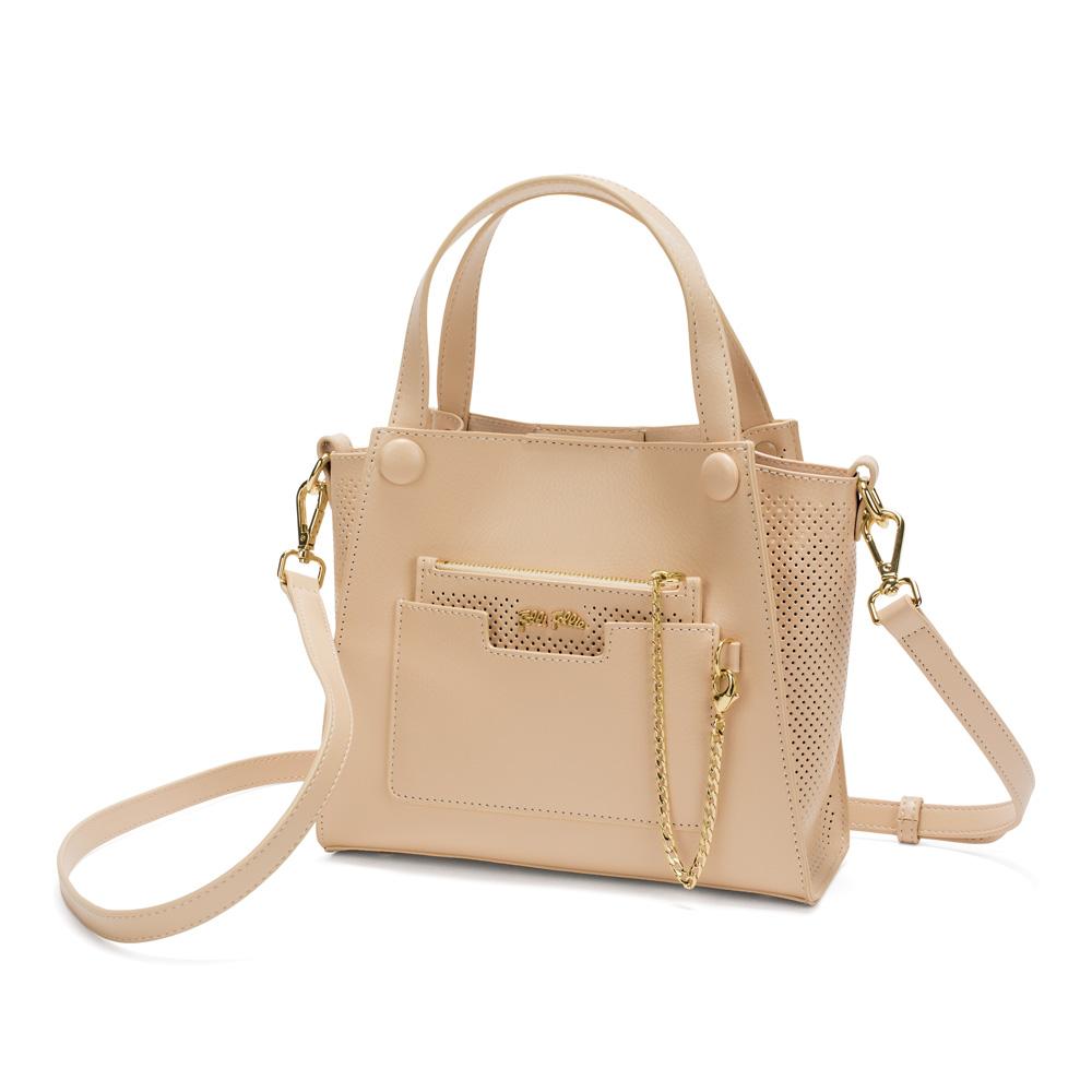 a6b86dedca FOLLI FOLLIE – Γυναικεία μικρή τσάντα χειρός FOLLI FOLLIE μπεζ. Factory  Outlet
