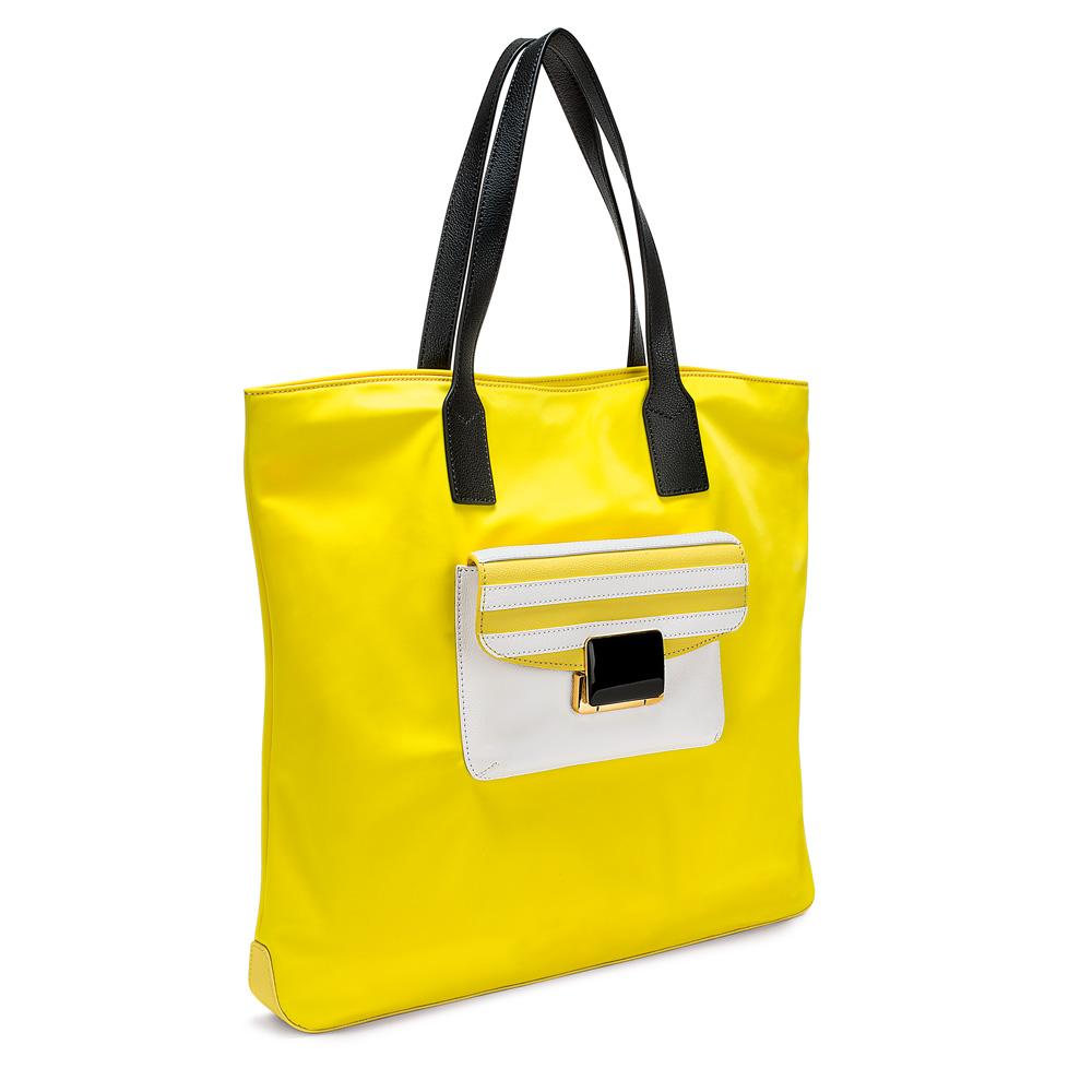 FOLLI FOLLIE - Γυναικεία τσάντα ώμου FOLLI FOLLIE κίτρινη γυναικεία αξεσουάρ τσάντες σακίδια ωμου