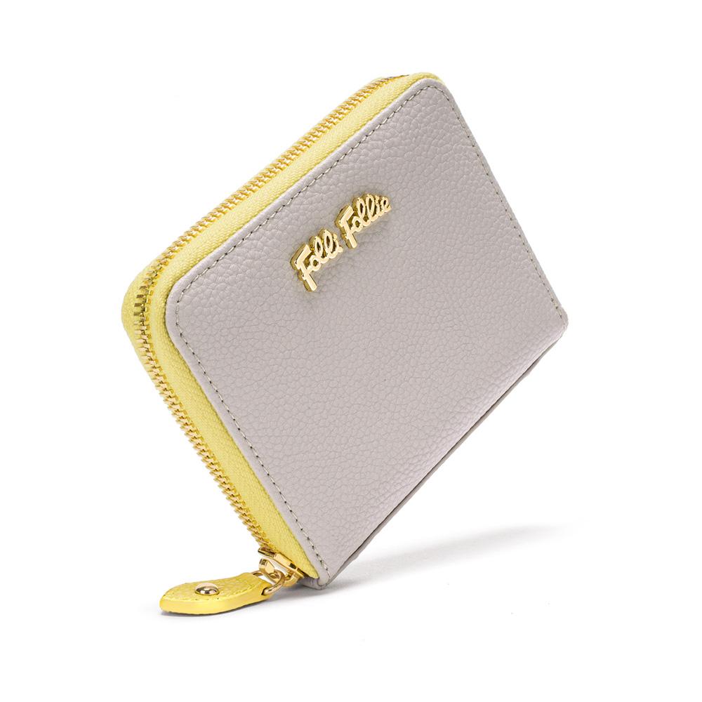 5fea35ed7d FOLLI FOLLIE - Γυναικείο πορτοφόλι με φερμουάρ FOLLI FOLLIE γκρι